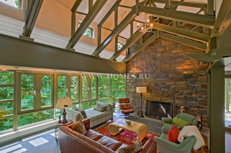 Уникальный современный особняк в Коннектикуте
