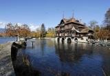 Потрясающий замок на берегу Женевского озера