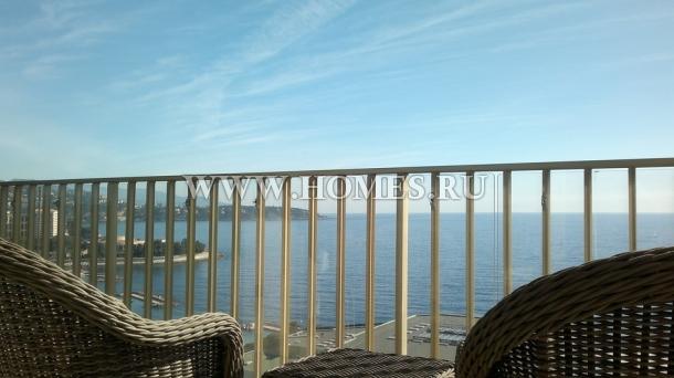 Монако, красивый апартамент с видом на море