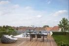 Просторный  пентхаус  с садом на крыше