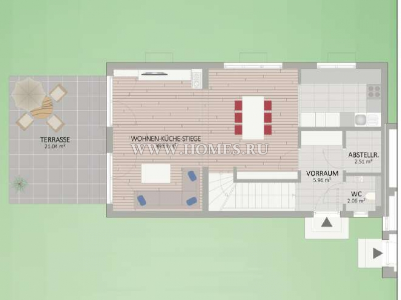 Новый двухквартирный дом в 22-м районе Вены