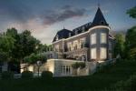 Великолепный замок на берегу Женевского озера