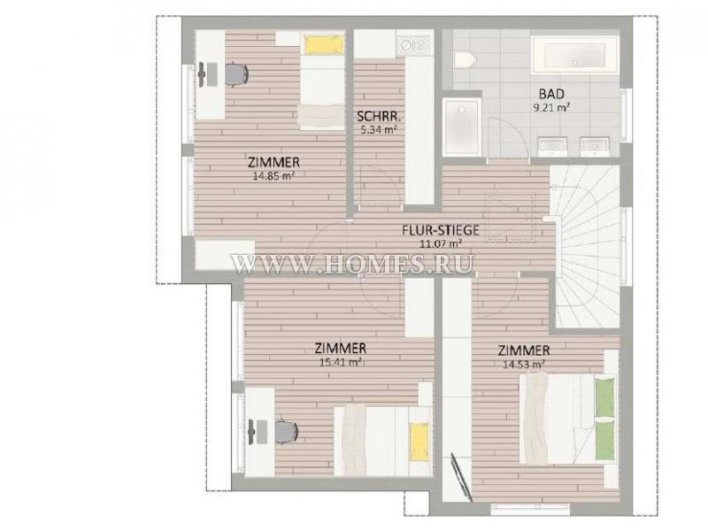Прекрасный дом в 21-м районе Вены