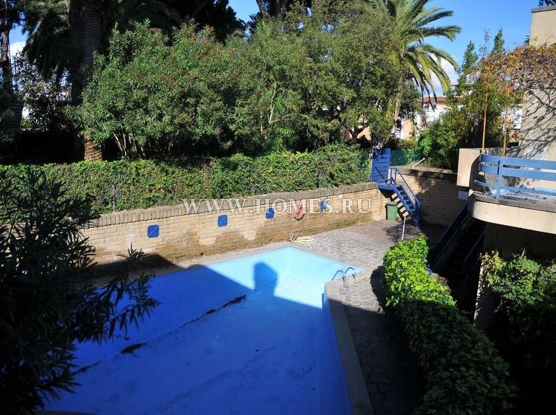 Анцио, апартамент с бассейном