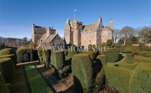 Традиционный замок в Шотландии
