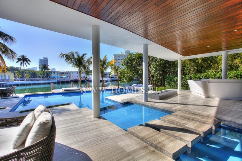 Шикарная современная вилла в Майами-Бич