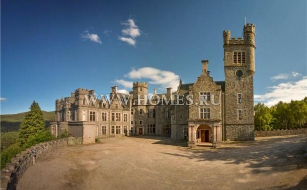 Восхитительный замок на севере Шотландии