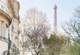 Городской особняк с видом на Эйфелеву башню