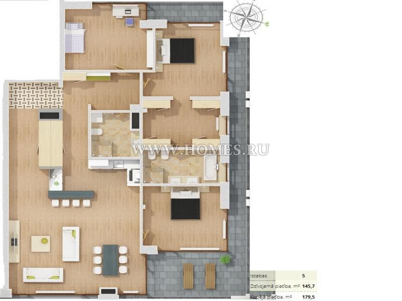 Замечательные апартаменты в Риге, Межапаркс