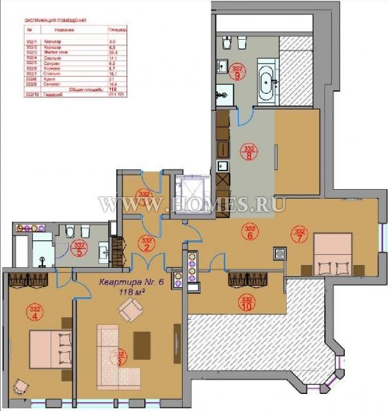 Роскошная квартира в Юрмале, Булдури