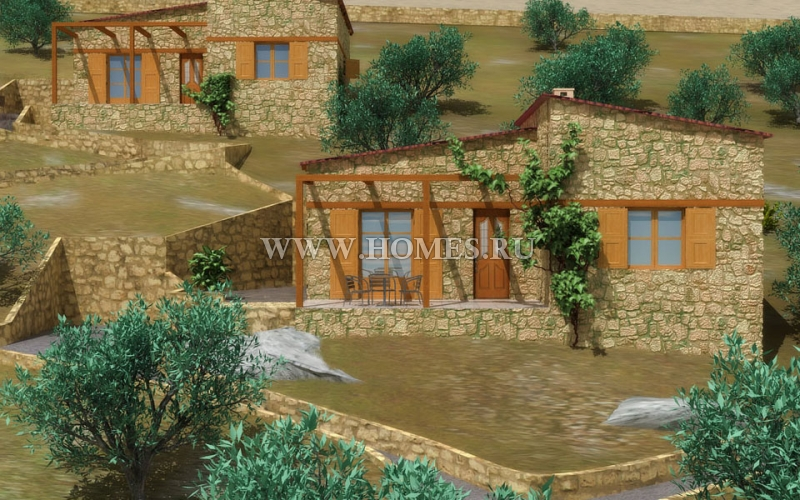 Комплекс из трех домов в Кавале