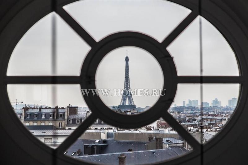 Потрясающая квартира с видом на Эйфелеву башню